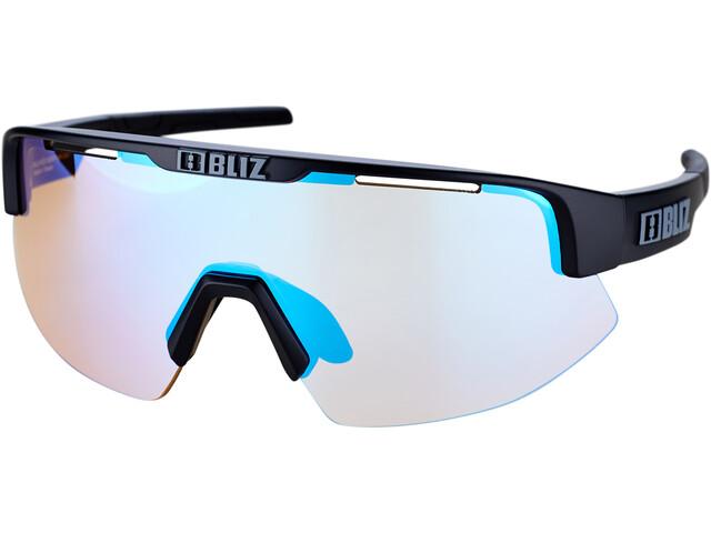 Bliz Matrix Small Nano Optics Nordic Light Glasses, matte black/jawbone orange with blue multi